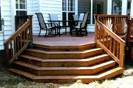 deck with flared stairs on lake norman steps and stairs photo