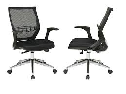 white office chair mesh retractable arm mesh back office chair