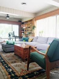 retro wood paneling cozy collected mid century modern den embracing dated original