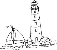 sail boat approaching lighthouse coloring pages sail boat