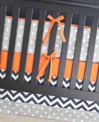 Orange Crib Bedding Sets Crib Bedding Set Orange Navy Blue Gray Nursery Bedding Bumper