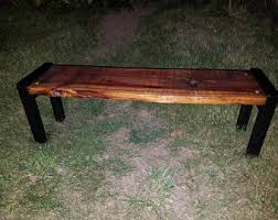Wood Outdoor Bench Reclaimed Wood Bench Etsy