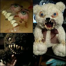 snowball the monster teddy bear creepy teddy horror toys glow