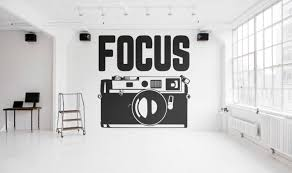 focus typography wall decals for home decor lettering