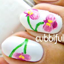 cubbiful pink orchid nail art