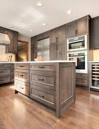 grey stained kitchen cabinets
