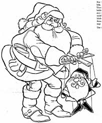 christmas pages to color and santa claus for kids rudolph santa pictures to color and santa