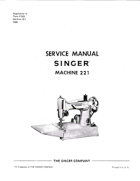 service manual and 4 part books vintage singer featherweight 221