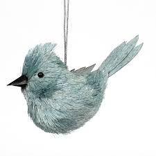 blue sisal bird ornament sears