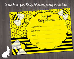 Baby Shower Invitation Cards Templates Free Template Bumble Bee Baby Shower Invitations