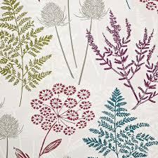 Colourful Upholstery Fabric Berry Galloway Cotton Fabric Dunelm Interiors Pinterest