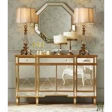 mirrored console table for sale mirrored console table with 3 drawers and 4 doors ebay inside plans