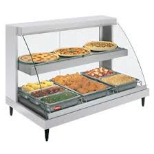 heated food display warmer cabinet case hatco grcdh 3pd heated glo ray display case three pan food