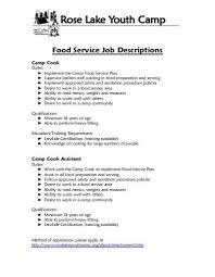 food preparer job description experienced food service job