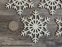 3 inch snowflake wood christmas ornaments 10 pack style 5