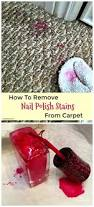 how to a remove nail polish stain from carpet so tipical me