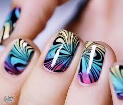 35 water marble nail art designs water marble nail art water