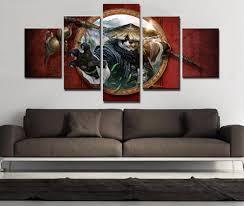 aliexpress com buy frame 5 piece canvas art warcraft painting