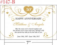 50th anniversary gift for parents happy 50th anniversary gift for parents central