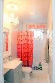 Colored Shower Curtain Coral Shower Curtain Foter