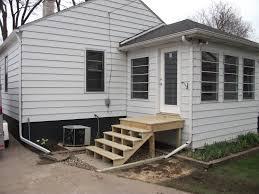 back door steps with landing scoakat u0027s blog exterior
