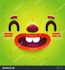 Funny Face Halloween Masks Funny Cartoon Monster Face Halloween Green Stock Vector 706729294