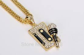 man necklace store images Ysn7 hip hop men jewelry gold cover dj microphone pendants jpg