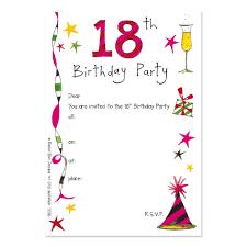 Invitation Cards Of Birthday Party 18th Birthday Party Invitations Kawaiitheo Com