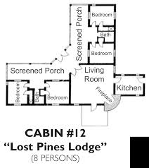Accessible Bathroom Floor Plans by Bastrop State Park Cabin 12