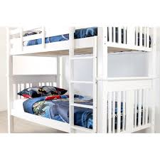 Bailey White King Single  King Single Bunk Bed Frame Sleeping Giant - King single bunk beds