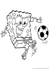 spspongebob soccer colouring pages coloring
