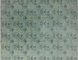 Blue Wool Rug Double Knotted Turkish 10 X 14 Wool Rug H8676