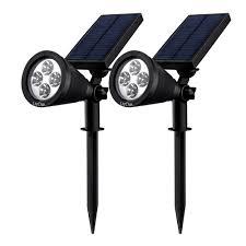 Led Outdoor Spot Lighting by Litom Lsl1d Solar Spotlights Adjustable 4 Led Outdoor Landscape