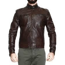 motor leather jacket matchless down jacket jacket osborne motor leather in brown for