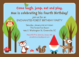 woodland birthday invitations enchanted forest gnome boy