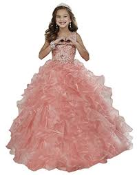 aisha girls pageant dresses sequins beaded ruffled christmas party