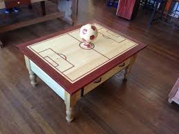themed coffee table soccer themed coffee table by aaronmad lumberjocks