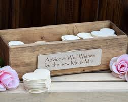 wedding wishes and advice wedding advice box etsy