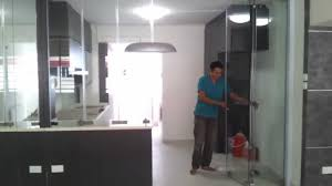 kitchen design hdb frameless door system close demo video singapore serangoon hdb 4