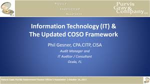 information technology it u0026 the updated coso framework ppt