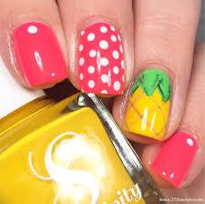 summer vibes pineapple nails 25 sweetpeas