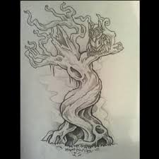 tattoos for spooky twisted tree getattoos us