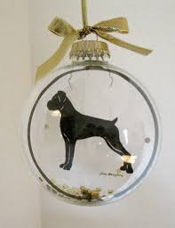 boxer ornament gifts for uncropped ears