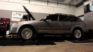 2009 subaru outback xt dyno run youtube