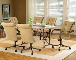 fresh dining table and chairs with casters 9089