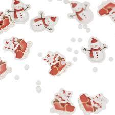 festive christmas snowman and santa table confetti by