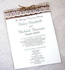burlap wedding programs burlap wedding program fans diy burlap and lace wedding programs