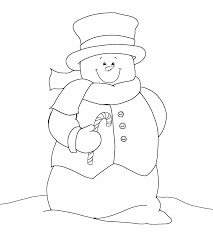 printable snowman clipart 49