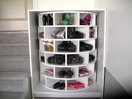 Small Walk In Closet Design Idea With Shoe Storage Shelving Unit