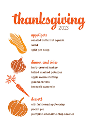 thanksgiving menu templates for free happy thanksgiving